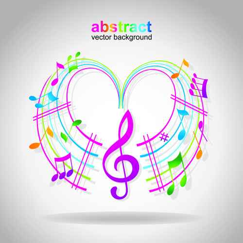Elements of Sheet Music and Music design vector 02