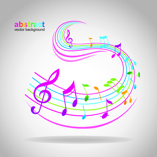Elements of Sheet Music and Music design vector 01