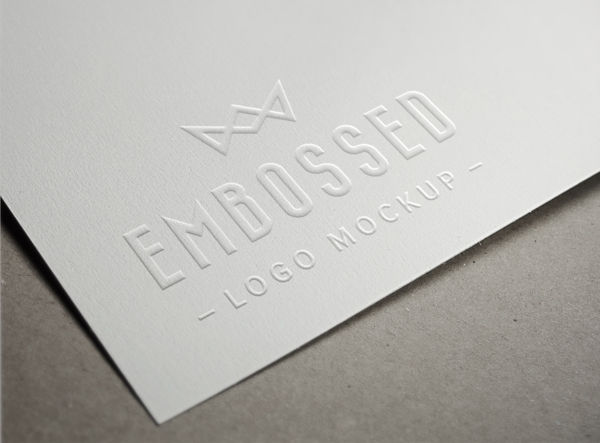 Embossed Paper Logo MockUp | GraphicBurger