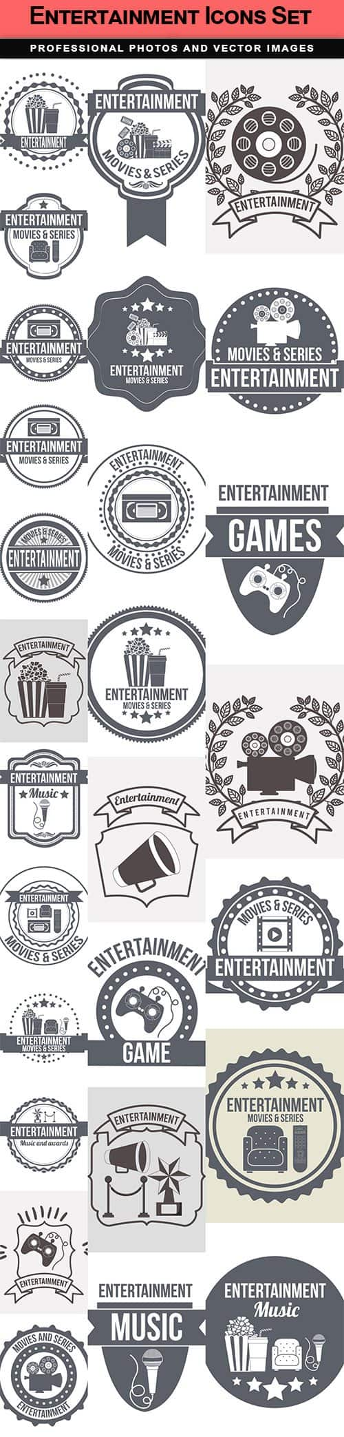 Entertainment Icons Set