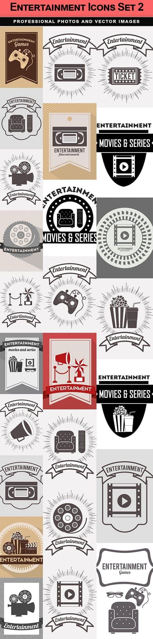 Entertainment Icons Set 2