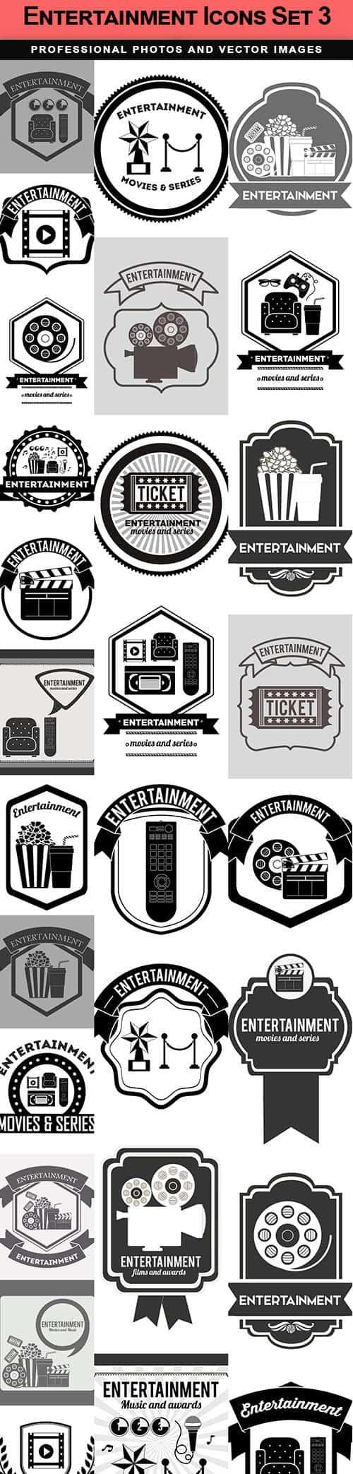 Entertainment Icons Set 3