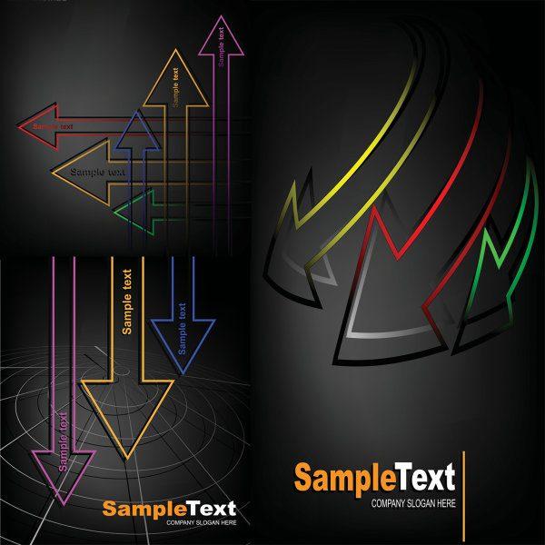 Exquisite arrow background vector