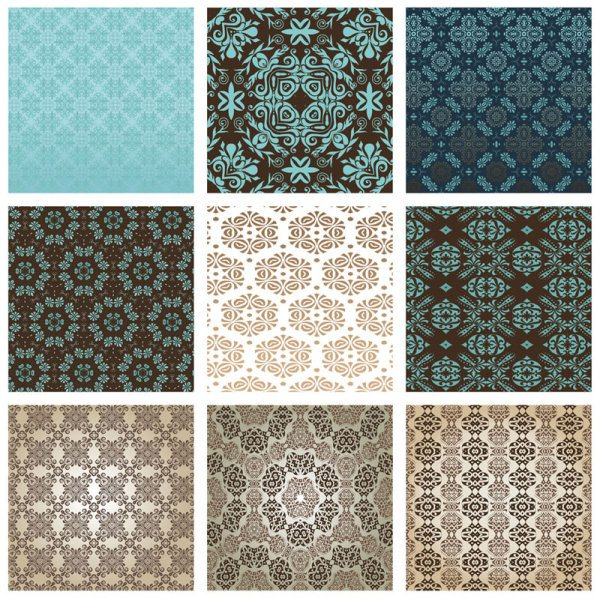 Exquisite Decorative pattern background 01 vector