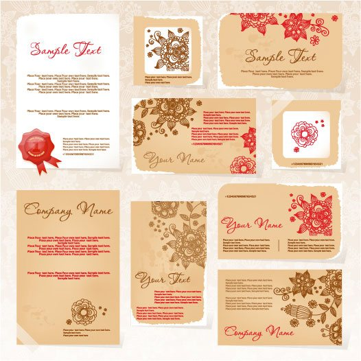 Exquisite Floral Card template vector 01 – Vector Other free download
