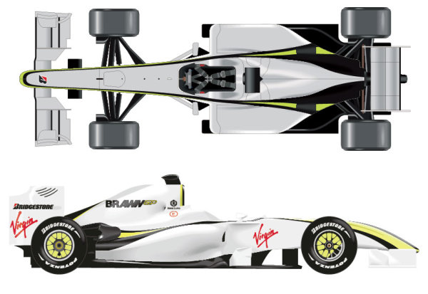 F1 Racing Model elements vector