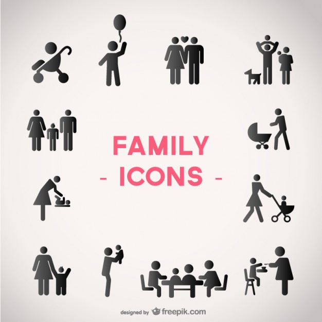 Family vector icons set   Vector | Free Download