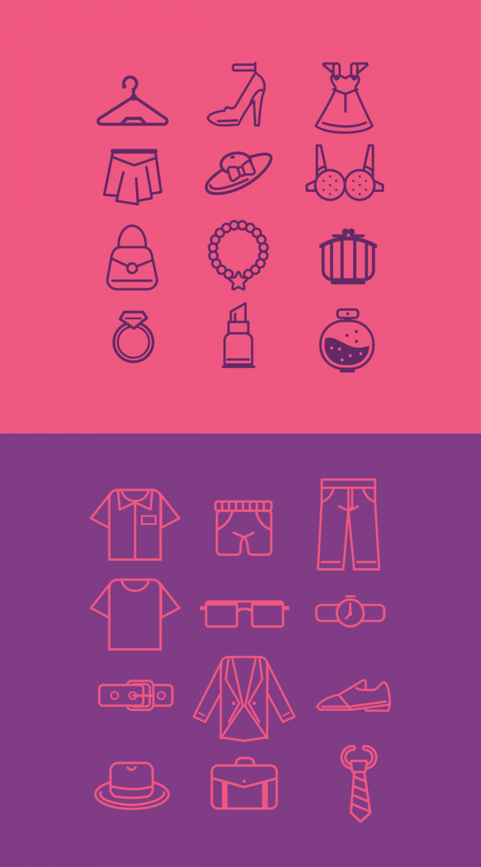 Fashion and Boutique line icons | IconStore