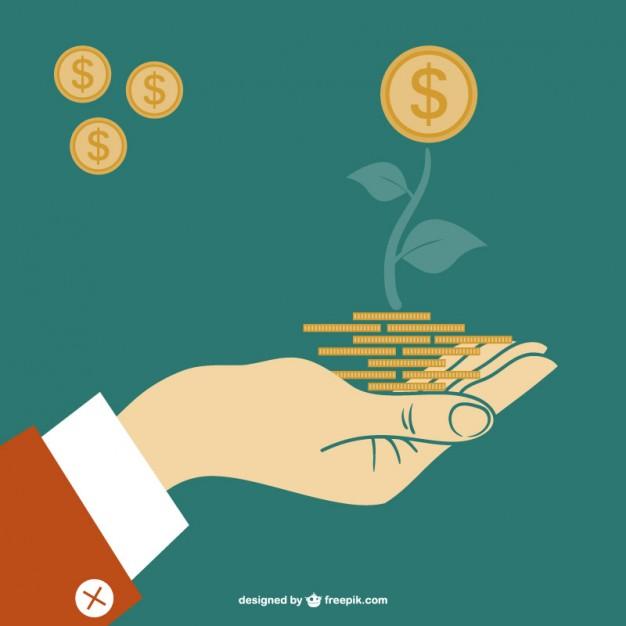 Finance vector concept illustration