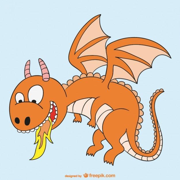 Fire dragon cartoon