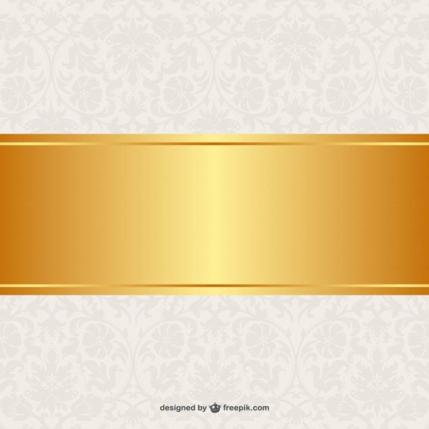 Floral background golden banner design  Vector | Free Download