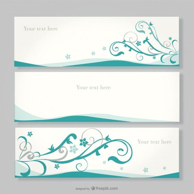 Floral banner design