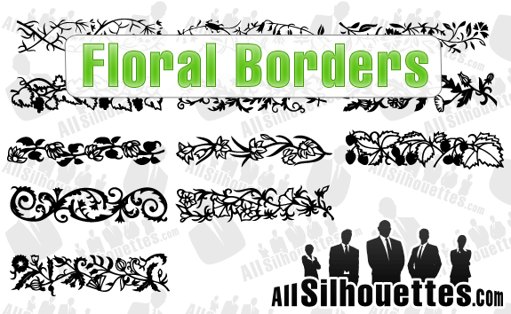 Floral Borders – All-Silhouettes