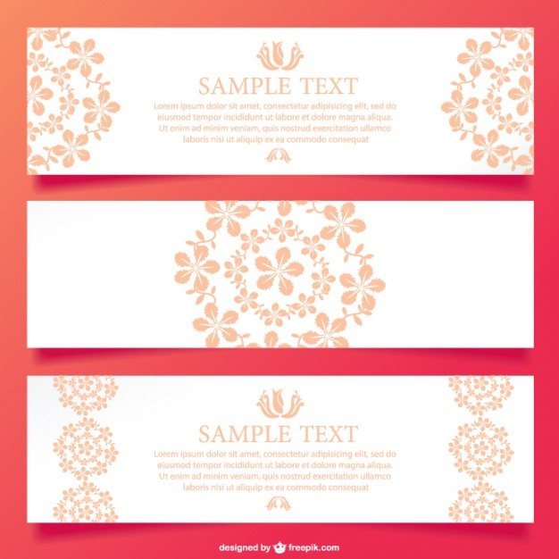 Floral ornamental banner design   Vector | Free Download