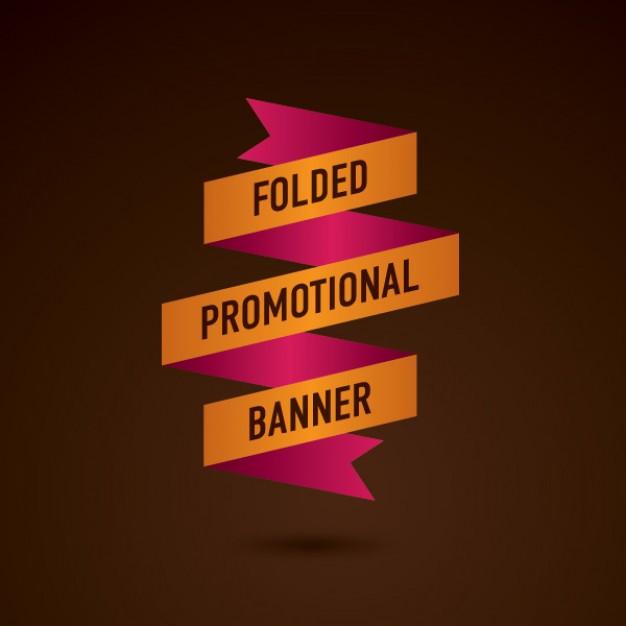 folded promotional banner