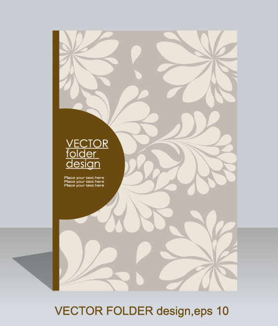 folder design vector Floral background 02