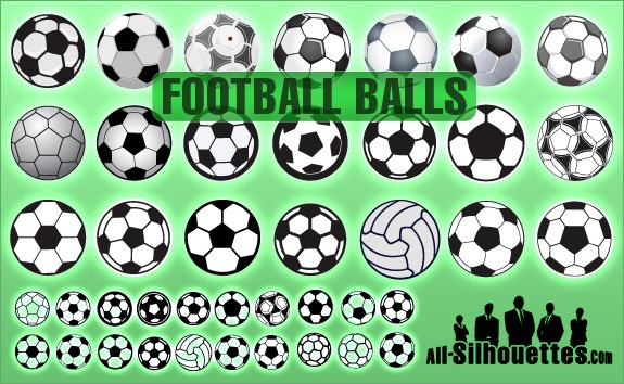 Football Balls – All-Silhouettes