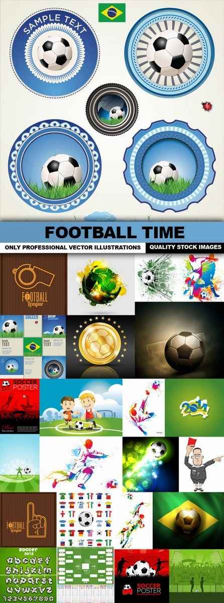 Football Time – 25 Vectors