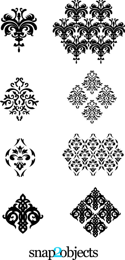 Four Vector Floral Ornaments Pack 02