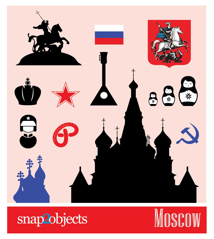 Free City Vector Icons: Moscow