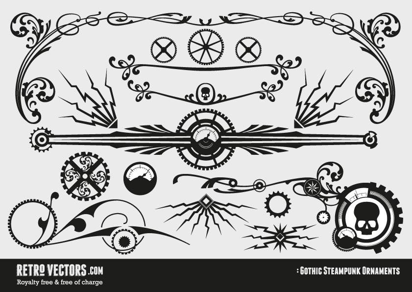 Free Gothic Steampunk Ornaments