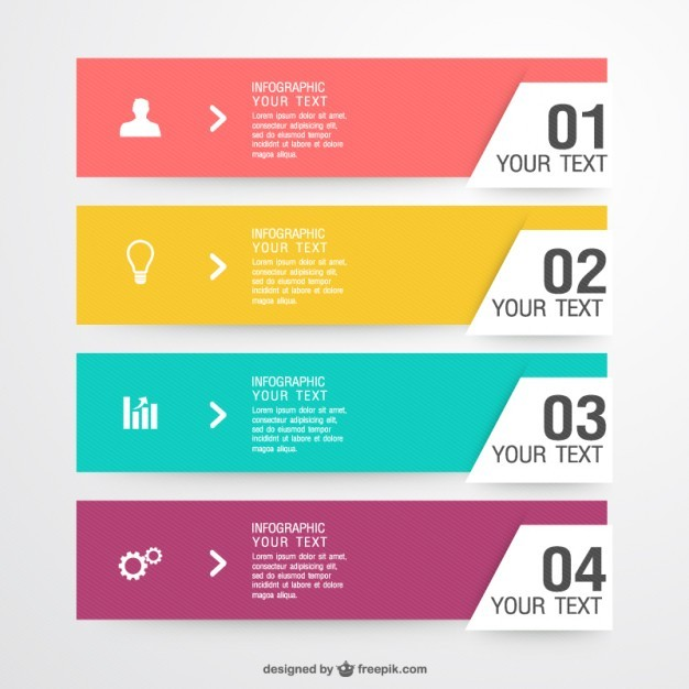 Free infographic label elements Vector | Free Download