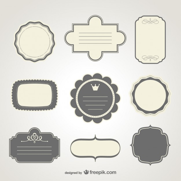 Free label design  Vector | Free Download