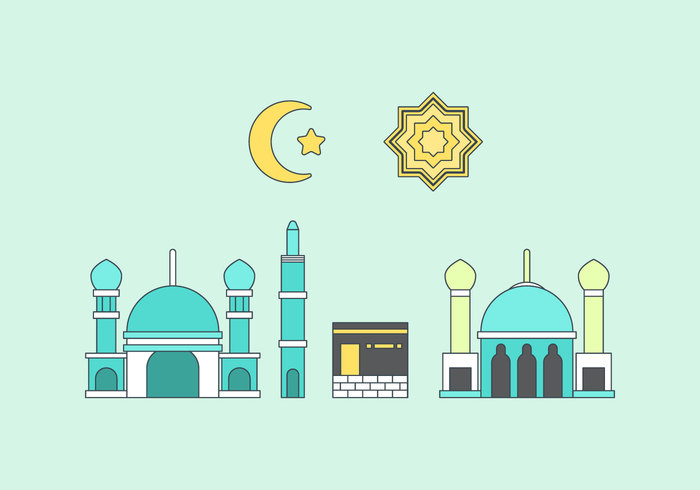Free Makkah Vector Illustration