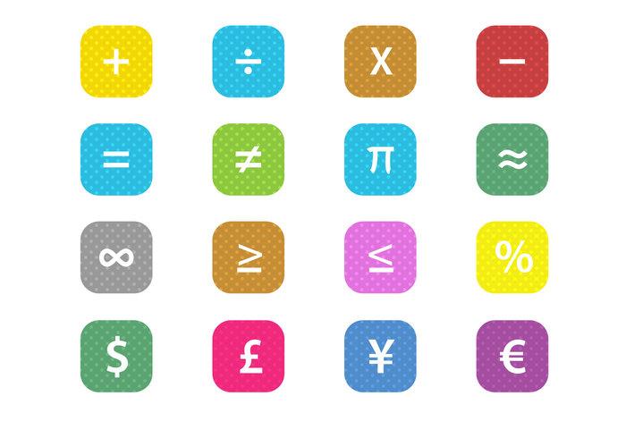Free Math Financial Symbols Vector