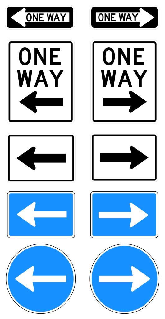Free One Way Road Sign Vectors | Signs & Symbols