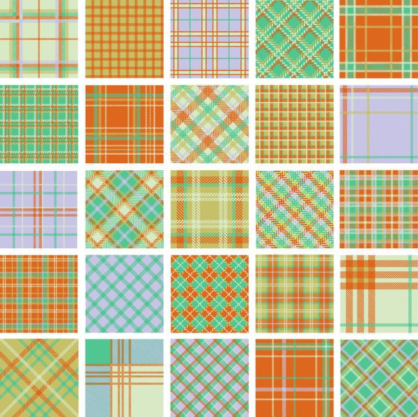 free Plaid pattern vector 01