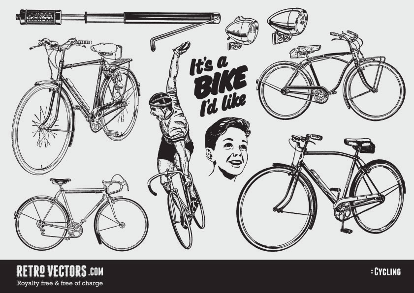 Free Retro Cycling Vectors
