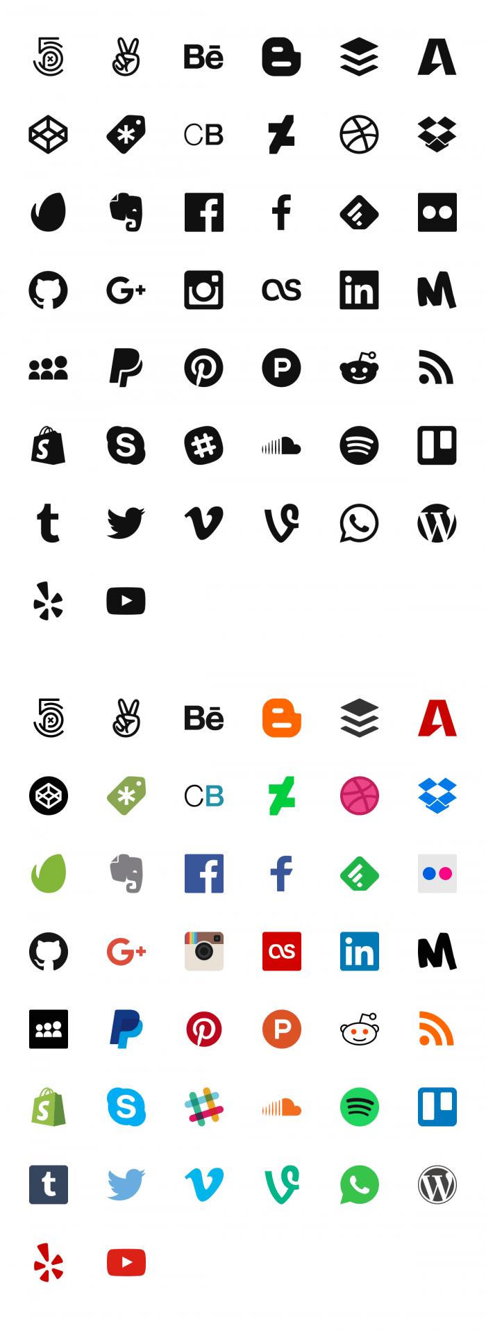 Free Social Media Icons | IconStore