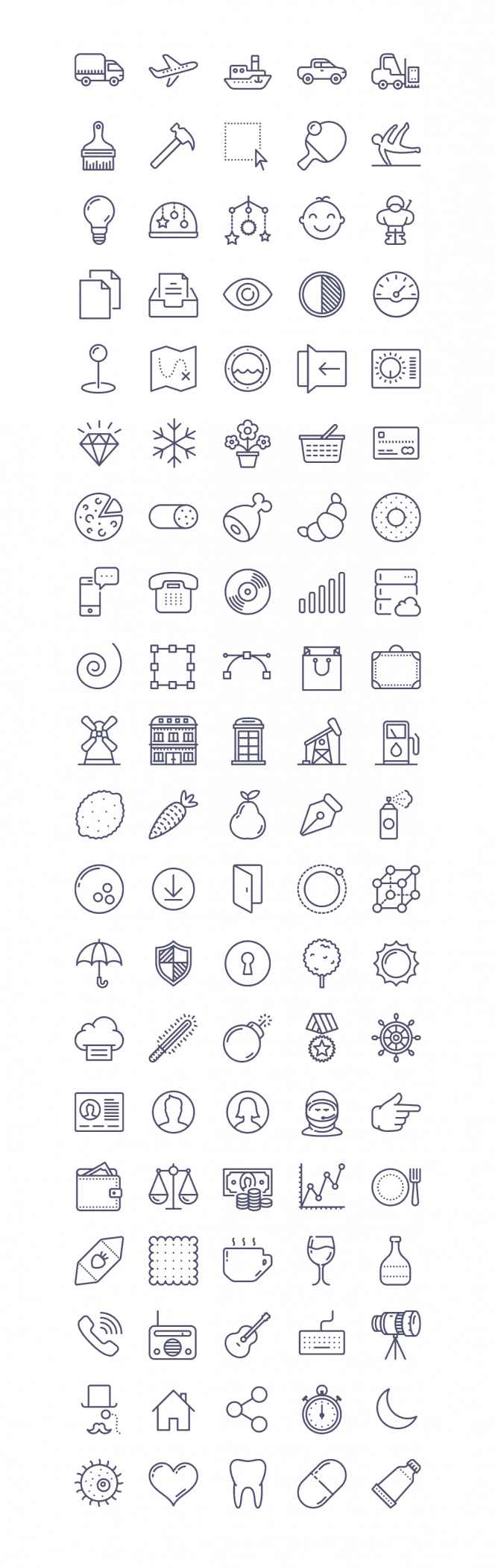 100 free Unigrid vector icons | IconStore