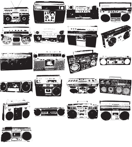 21 Free Vector Boomboxes