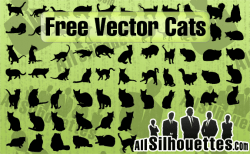 Free Vector Cats – All-Silhouettes