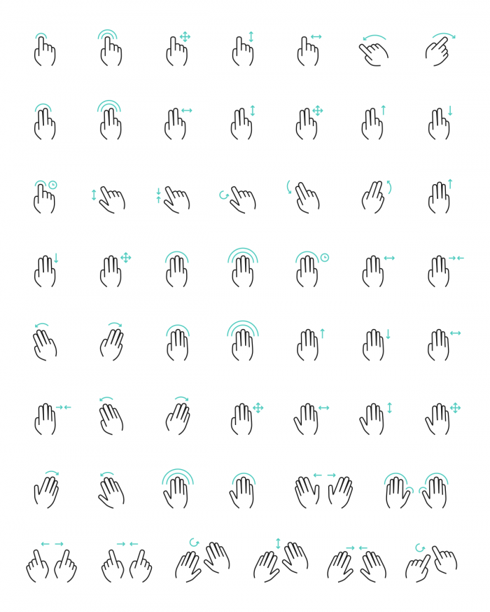 Free Vector Gesture Icons | IconStore