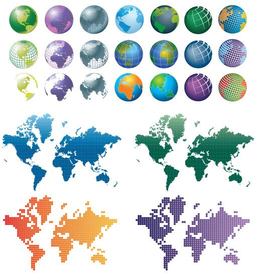 Free Vector Globes and Maps Vector