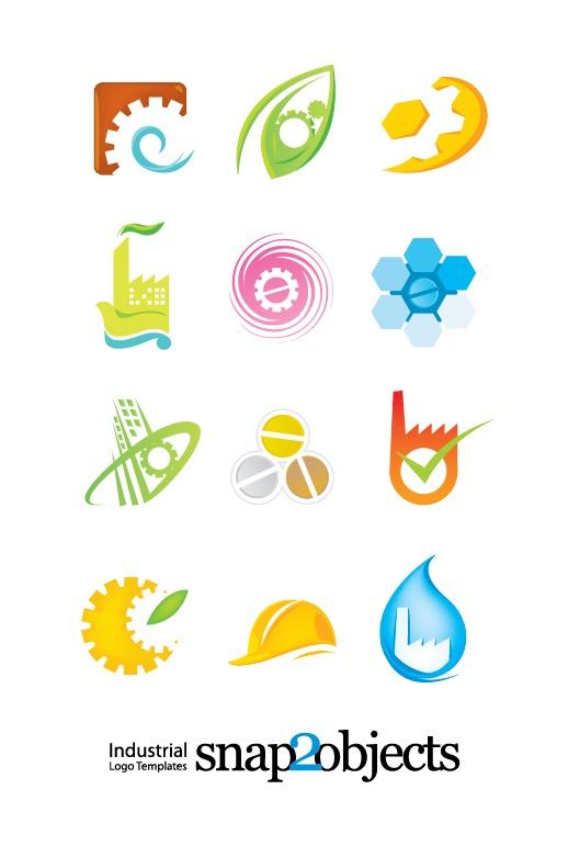 Free Vector Industrial Logo Elements