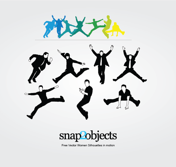 Free Vector Men Silhouettes in Motion