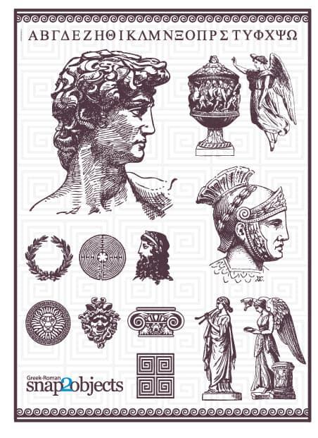 Free Vector Roman Elements