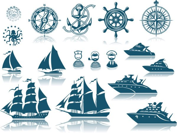 free vector Shipping Silhouettes 01