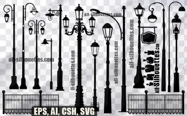 Free Vector street lamps