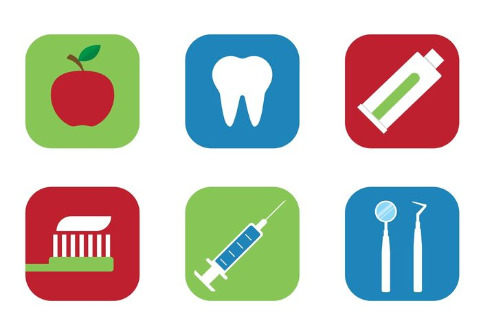 Free Vector Tooth Icons