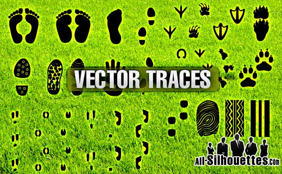 Free Vector Traces – All-Silhouettes