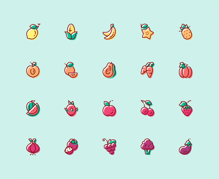 Fruit & Vegetable Icons | IconStore