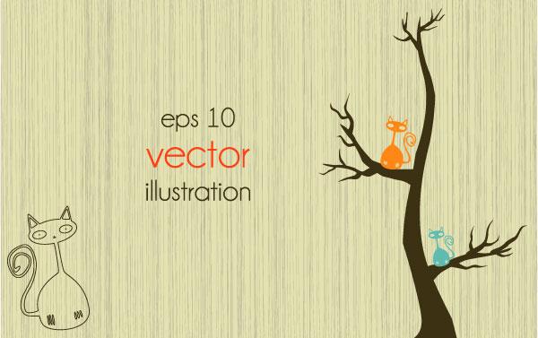 Funny Tree Illustration vector 04