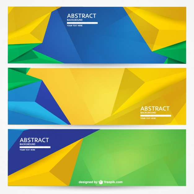 Geometric Brazil banners background set  Vector | Free Download