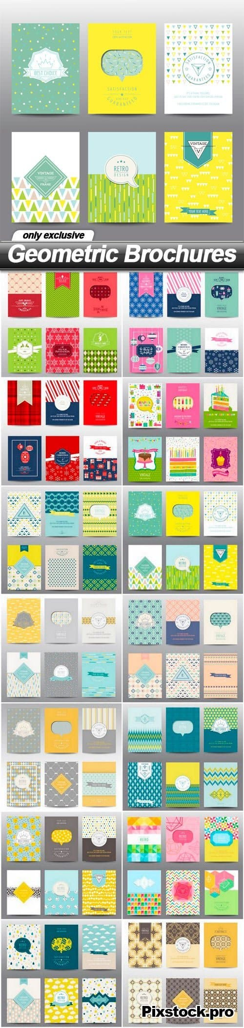 Geometric Brochures – 14 EPS