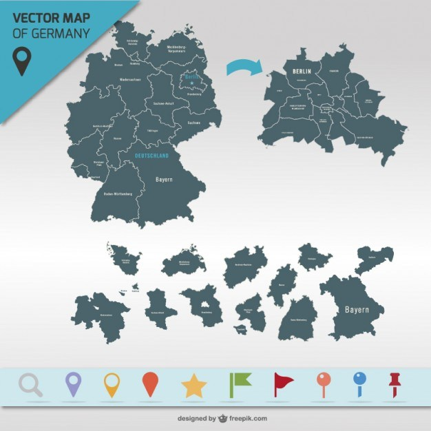 Germany map vector   Vector | Free Download